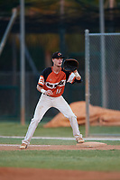 Thomas Umphlett during the WWBA World Championship at the Roger Dean Complex on October 20, 2018 in Jupiter, Florida.  Thomas Umphlett is a right handed pitcher from Charlotte, North Carolina who attends South Mecklenburg High School and is committed to Francis Marion.  (Mike Janes/Four Seam Images)