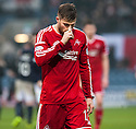 Aberdeen's David Goodwillie at the end of the game.
