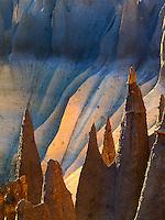 Backlit Pinnacles at Cater Lake National Park, Oregon