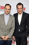 """Johnny Lee Miller and Bertie Carvel attends the Broadway Opening Night After Party for """"Ink"""" at the Copacabana on April 24, 2019  in New York City."""