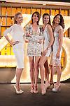 Spanish models (L-R) Judit Masco, Nieves Alvarez, Laura Sanchez and Jose Toledo pose during Licor 43 presentation in Madrid, Spain. January 29, 2015. (ALTERPHOTOS/Victor Blanco)