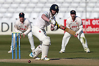 Alex Lees in batting action for Durham during Essex CCC vs Durham CCC, LV Insurance County Championship Group 1 Cricket at The Cloudfm County Ground on 17th April 2021