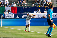 CARSON, CA - MAY 8: Julian Araujo #2 of the Los Angeles Galaxy with a throw in during a game between Los Angeles FC and Los Angeles Galaxy at Dignity Health Sports Park on May 8, 2021 in Carson, California.