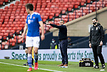 St Mirren v St Johnstone…09.05.21  Scottish Cup Semi-Final Hampden Park <br />Saints boss Callum Davidson shouts instructions<br />Picture by Graeme Hart.<br />Copyright Perthshire Picture Agency<br />Tel: 01738 623350  Mobile: 07990 594431