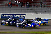 NASCAR Camping World Truck Series<br /> Las Vegas 350<br /> Las Vegas Motor Speedway, Las Vegas, NV USA<br /> Saturday 30 September 2017<br /> Christopher Bell, DC Solar Toyota Tundra, Ryan Truex, Toyota Tundra and Chase Briscoe, Cooper Standard Ford F150<br /> World Copyright: Russell LaBounty<br /> LAT Images