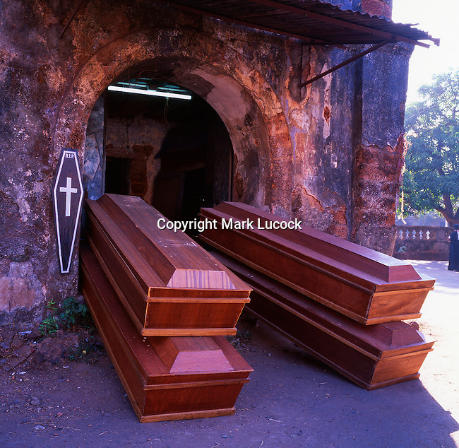 Coffin makers shop, Goa, India