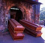 Coffin makers shop, Goa, India