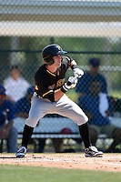 Pittsburgh Pirates Erik Forgione (68) during a minor league spring training game against the Toronto Blue Jays on March 21, 2015 at Pirate City in Bradenton, Florida.  (Mike Janes/Four Seam Images)