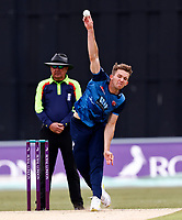 Matt Mlnes bowls for Kent during Kent Spitfires vs Lancashire, Royal London One-Day Cup Cricket at The Kent County Cricket Ground on 28th July 2021