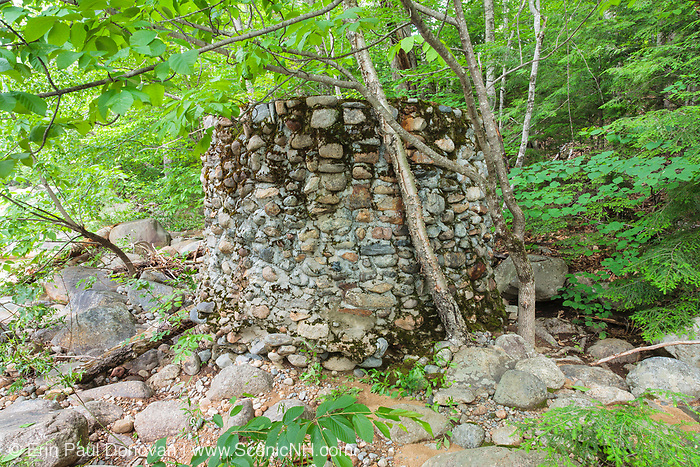 An abandoned stone water holding tank near the old Civilian Conservation Corps camp in Hart's Location, New Hampshire. The Civilian Conservation Corps was a public work relief program that operated from 1933 to 1942 in the United States. Many of the construction projects they did during their existence benefit us today.