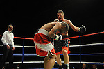 Justin Hugh (Black & Red shorts) V James Tucker (Red & White shorts). , Joe Calzaghe Promotions Boxing Evening .Date: Friday 20/11/2009,  .© Ian Cook IJC Photography, 07599826381, iancook@ijcphotography.co.uk,  www.ijcphotography.co.uk, .