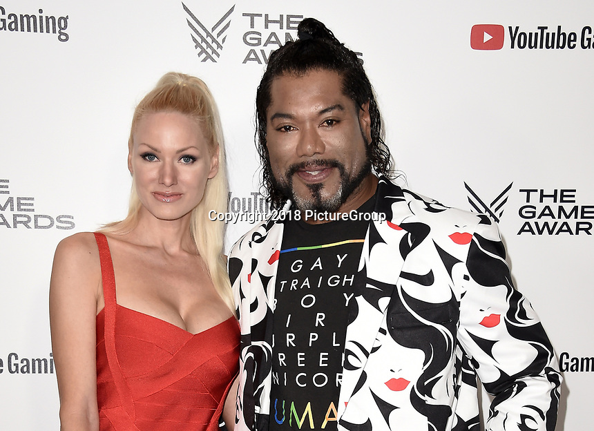 LOS ANGELES - DECEMBER 6: (L-R) Gia Judge and Christopher Judge attend the 2018 Game Awards at the Microsoft Theater on December 6, 2018 in Los Angeles, California. (Photo by Scott Kirkland/PictureGroup)