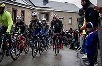 defending champion Julian ALAPHILIPPE (FRA/Deceuninck-Quick Step) up the Côte de Saint-Roch<br /> <br /> 105th Liège-Bastogne-Liège 2019 (1.UWT)<br /> One day race from Liège to Liège (256km)<br /> <br /> ©kramon