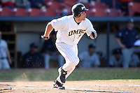 March 14, 2010:  Third Baseman Brian Klukowicz of UMBC in a game vs. Bucknell at Chain of Lakes Stadium in Winter Haven, FL.  Photo By Mike Janes/Four Seam Images