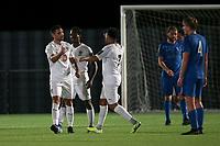 Romford celebrate their third goal during Barking vs Romford, Friendly Match Football at Mayesbrook Park on 8th September 2020