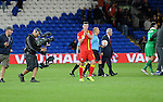 Wales v Serbia FIFA 2014 World Cup Qualifying match - Cardiff - 100913 <br /> Gareth Bale claps at the end of the game with Serbia at the Cardiff City stadium tonight.