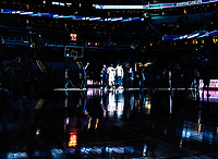 WASHINGTON, DC - FEBRUARY 05: Hoyas players at the start during a game between Seton Hall and Georgetown at Capital One Arena on February 05, 2020 in Washington, DC.