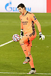 Real Madrid's Thibaut Courtois during UEFA Champions League match. December 9,2020.(ALTERPHOTOS/Acero)