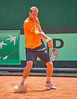 Austria, Kitzbuhel, Juli 15, 2015, Tennis, Davis Cup, Training Dutch team, Thiemo de Bakker<br /> Photo: Tennisimages/Henk Koster