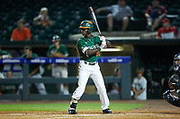 James Davison (51) of the Miami Hurricanes at bat against the North Carolina Tar Heels in the second semifinal of the 2017 ACC Baseball Championship at Louisville Slugger Field on May 27, 2017 in Louisville, Kentucky. The Tar Heels defeated the Hurricanes 12-4. (Brian Westerholt/Four Seam Images)