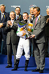 WAN CHAI,HONG KONG-DECEMBER 06: Zac Parton wins the LONGINES International Jockeys' Championship at Happy Valley Racecourse on December 6,2017 in Wan Chai,Hong Kong (Photo by Kaz Ishida/Eclipse Sportswire/Getty Images)