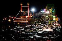 Agrosy Casino in Alton, IL at night.