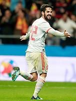 Spain's Isco Alarcon celebrates goal during international friendly match. March 27,2018.(ALTERPHOTOS/Acero) /NortePhoto.com NORTEPHOTOMEXICO