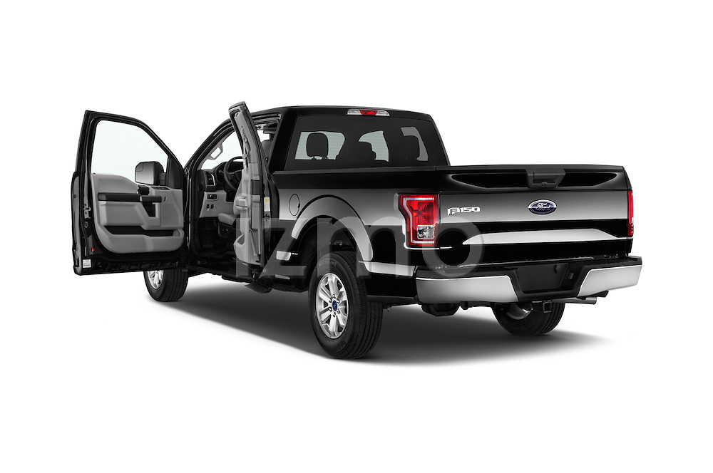 2 Doors of 2015 Ford F-150 XLT Super Cab Truck Stock Photo