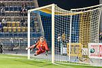 12.09.2020, Ernst-Abbe-Sportfeld, Jena, GER, DFB-Pokal, 1. Runde, FC Carl Zeiss Jena vs SV Werder Bremen<br /> <br /> <br /> 0:1 Joshua Sargent (Werder Bremen #19) nicht im Bild Lukas Sedlak (Carl Zeiss Jena #12)<br /> <br /> <br />  <br /> <br /> <br /> Foto © nordphoto / Kokenge