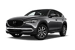 Stock pictures of low aggressive front three quarter view of 2017 Mazda CX-5 Grand Touring 5 Door SUV
