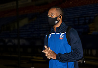 Bolton Wanderers' Nathan Delfouneso arriving at the stadium <br /> <br /> Photographer Andrew Kearns/CameraSport<br /> <br /> The EFL Sky Bet League Two - Bolton Wanderers v Mansfield Town - Tuesday 3rd November 2020 - University of Bolton Stadium - Bolton<br /> <br /> World Copyright © 2020 CameraSport. All rights reserved. 43 Linden Ave. Countesthorpe. Leicester. England. LE8 5PG - Tel: +44 (0) 116 277 4147 - admin@camerasport.com - www.camerasport.com