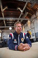 12-09-12, Netherlands, Amsterdam, Tennis, Daviscup Netherlands-Swiss, Press-conference Netherlands, Jan Siemerink