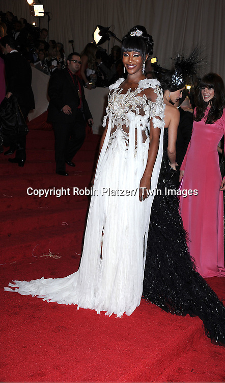 """Naomi Campbell arriving at The Costume Institute Gala Benefit celebriting """"Alexander McQueen: Savage Beauty"""" at The Metropolitan Museum of Art in New York City on May 2, 2011."""