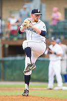 Pulaski Mariners starting pitcher Zach Littell (12) in action against the Burlington Royals at Calfee Park on June 20, 2014 in Pulaski, Virginia.  The Mariners defeated the Royals 6-4. (Brian Westerholt/Four Seam Images)