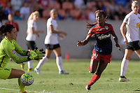 Houston, TX - Sunday Oct. 09, 2016: Sabrina D'Angelo, Francisca Ordega during the National Women's Soccer League (NWSL) Championship match between the Washington Spirit and the Western New York Flash at BBVA Compass Stadium. The Western New York Flash win 3-2 on penalty kicks after playing to a 2-2 tie.