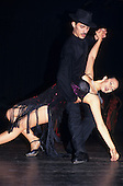 Buenos Aires, Argentina. Couple dancing the Tango, in a dramatic sensual position.
