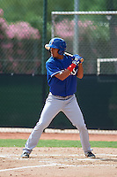 Texas Rangers Miguel Aparicio (86) during an instructional league game against the Seattle Mariners on October 5, 2015 at the Surprise Stadium Training Complex in Surprise, Arizona.  (Mike Janes/Four Seam Images)