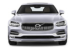 Car photography straight front view of a 2017 Volvo S90 Inscription 4 Door Sedan Front View