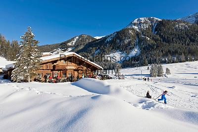 Oesterreich, Salzburger Land, Pongau, bei Obertauern: Skilanglaufgebiet rund um die Gnadenalm | Austria, Salzburger Land, Pongau, near Obertauern: cross-country ski area at Gnadenalm