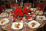 One of the decorated tables at the Indian Film Festival Celebrity Gala at the InterContinental Hotel Saturday evening Sept. 26,2009. (Dave Rossman/For the Chronicle)