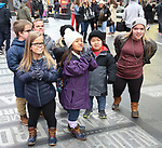 "Johan Johnston, Anna Johnston, Trent Johnston, Emma Johnston, Amber Johnston, Alex Johnston and Elizabeth Johnston from the cast of TLC's ""7 Little Johnstons"" filming promoting filming a visit to Times Square on January 4, 2019 in New York City."
