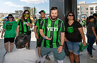 AUSTIN, TX - JUNE 19: First Austin FC fans entering Q2 Stadium before a game between San Jose Earthquakes and Austin FC at Q2 Stadium on June 19, 2021 in Austin, Texas.