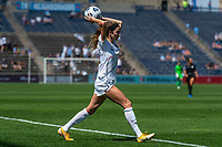 BRIDGEVIEW, IL - JUNE 5: Ryan Williams #13 of the North Carolina Courage throws the ball during a game between North Carolina Courage and Chicago Red Stars at SeatGeek Stadium on June 5, 2021 in Bridgeview, Illinois.