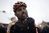 Rob Peeters' (BEL/Vastgoedservice-Golden Palace) mudface<br /> <br /> Azencross Loenhout 2014