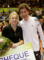 17-12-06,Rotterdam, Tennis Masters 2006, Robin Haase  en Michealla Krajicek de nieuwe Masters 2006