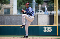 Frisco RoughRiders pitcher Walker Weickel (38) during a Texas League game against the Midland RockHounds on May 21, 2019 at Dr Pepper Ballpark in Frisco, Texas.  (Mike Augustin/Four Seam Images)