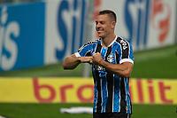 14th November 2020; Arena de Gremio, Porto Alegre, Brazil; Brazilian Serie A, Gremio versus Ceara; Diego Churín of Gremio celebrates his goal in the 70th minute for 4-1