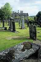Europe/Grande-Bretagne/Ecosse/Moray/Speyside/Dufftown : Mortlach Church - Le cimetière