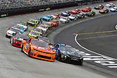 NASCAR Xfinity Series<br /> Fitzgerald Glider Kits 300<br /> Bristol Motor Speedway, Bristol, TN USA<br /> Saturday 22 April 2017<br /> Kyle Larson and Daniel Suarez, Juniper Toyota Camry<br /> World Copyright: Nigel Kinrade<br /> LAT Images<br /> ref: Digital Image 17BRI1nk06558