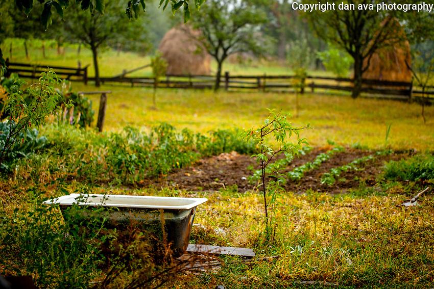 A bath in the middle of nowhere. Weird Transylvania.